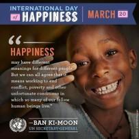Feliz Día Internacional de la Felicidad