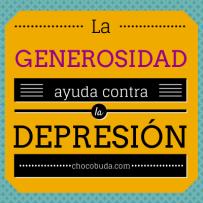 La generosidad ayuda contra la depresión